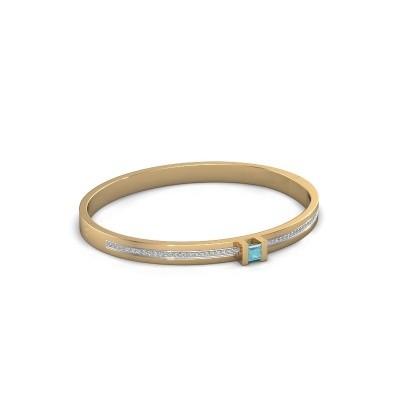 Foto van Armband Desire 585 goud blauw topaas 4 mm