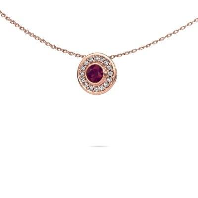 Picture of Necklace Gretta 375 rose gold rhodolite 4 mm