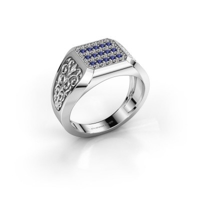 Foto van Heren ring Amir 925 zilver saffier 1.4 mm