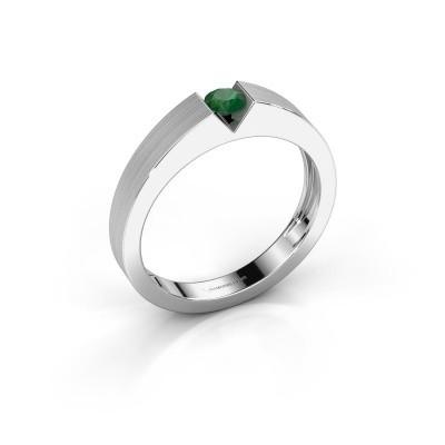 Foto van Verlovingsring Lizzy 1 585 witgoud smaragd 3.7 mm