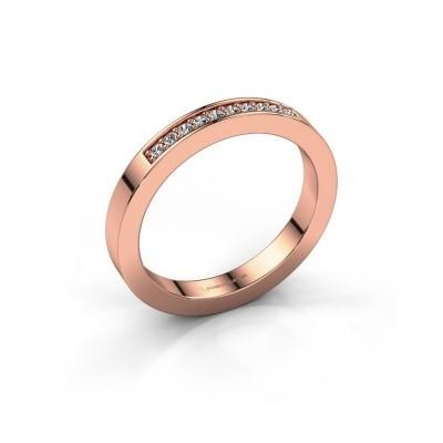 Aanschuifring Loes 3 585 rosé goud diamant 0.10 crt