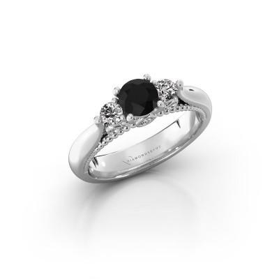 Bild von Verlobungsring Tiffani 585 Weissgold Schwarz Diamant 0.80 crt