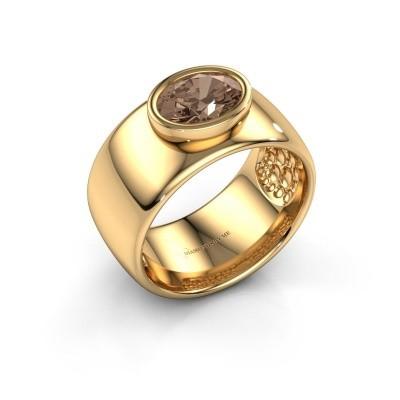Foto van Ring Anouschka 585 goud bruine diamant 1.15 crt