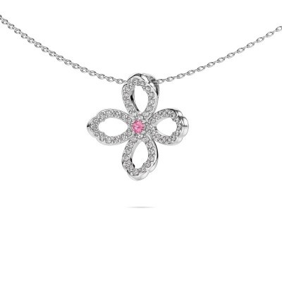 Picture of Necklace Chelsea 925 silver pink sapphire 2 mm