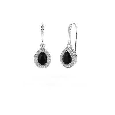 Picture of Drop earrings Beverlee 2 585 white gold black diamond 1.695 crt