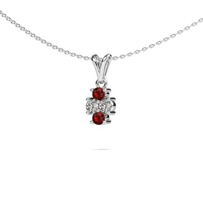 Picture of Necklace Richelle 950 platinum garnet 3 mm