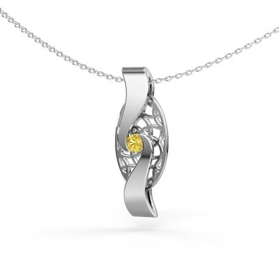 Picture of Pendant Darleen 925 silver yellow sapphire 3 mm