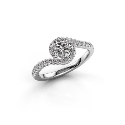 Foto van Verlovingsring Elli 585 witgoud diamant 0.753 crt