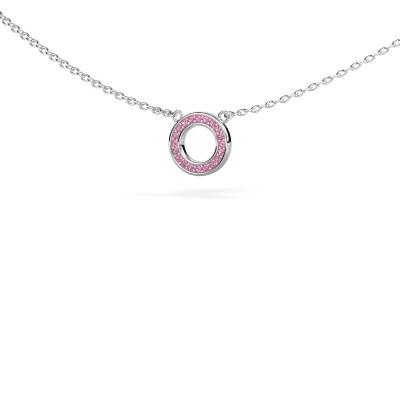 Bild von Anhänger Round 2 925 Silber Pink Saphir 0.8 mm