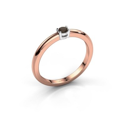 Foto van Verlovingsring Michelle 1 585 rosé goud rookkwarts 2.7 mm