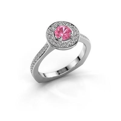 Foto van Ring Kanisha 2 925 zilver roze saffier 5 mm