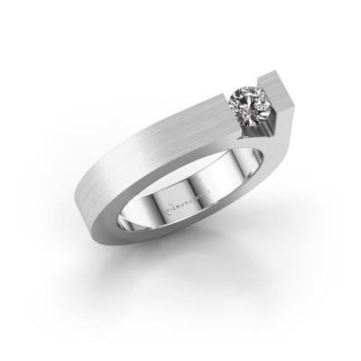 Foto van Ring Aisha 950 platina zirkonia 4.2 mm