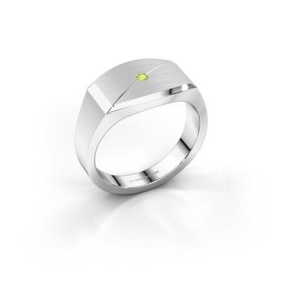 Foto van Heren ring Joe 5 925 zilver peridoot 2 mm