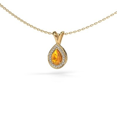 Picture of Necklace Ginger 585 gold citrin 6x4 mm
