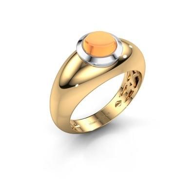 Foto van Ring Sharika 585 goud citrien 6 mm