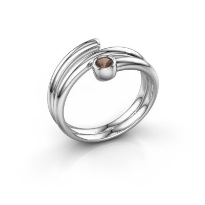 Ring Jenna 585 witgoud rookkwarts 3 mm