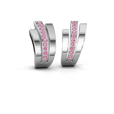Picture of Earrings Emeline 925 silver pink sapphire 1.1 mm