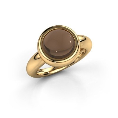 Foto van Ring Jenae 585 goud rookkwarts 10 mm