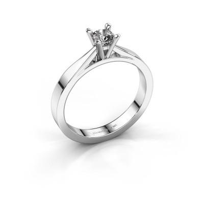 Foto van Aanzoeksring Catrina 585 witgoud diamant 0.25 crt
