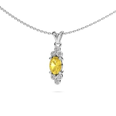 Picture of Pendant Lucy 2 950 platinum yellow sapphire 7x5 mm