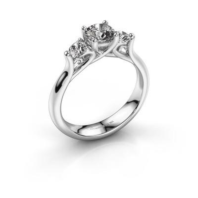Foto van Verlovingsring Jente 585 witgoud diamant 0.95 crt