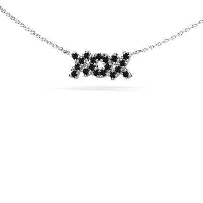 Bild von Kette XoX 585 Weissgold Schwarz Diamant 0.342 crt