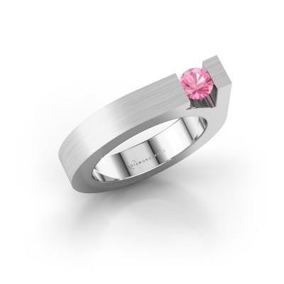 Foto van Ring Aisha 950 platina roze saffier 4.2 mm