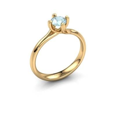 Foto van Verlovingsring Livia 585 goud aquamarijn 5 mm