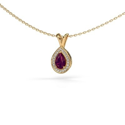 Picture of Necklace Ginger 585 gold rhodolite 6x4 mm