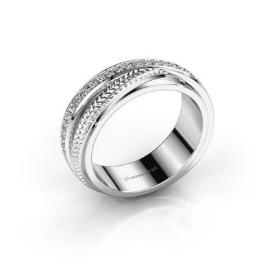 Trouwring Norah 585 witgoud diamant ±6x2.4 mm