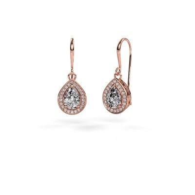 Picture of Drop earrings Beverlee 1 375 rose gold zirconia 7x5 mm