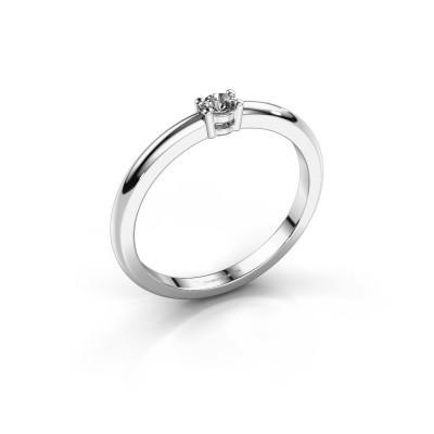 Foto van Verlovingsring Michelle 1 585 witgoud diamant 0.08 crt