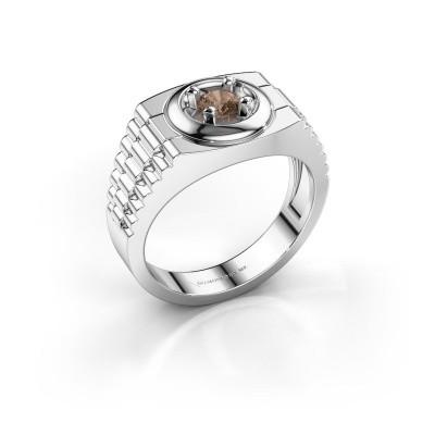 Foto van Rolex stijl ring Edward 925 zilver bruine diamant 0.40 crt