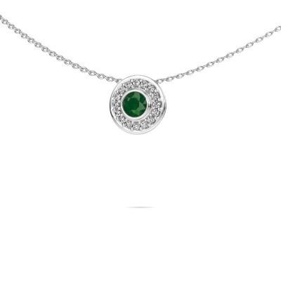 Foto van Ketting Gretta 925 zilver smaragd 4 mm