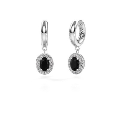 Picture of Drop earrings Annett 375 white gold black diamond 2.19 crt