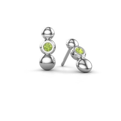Picture of Earrings Lily 925 silver peridot 2.5 mm
