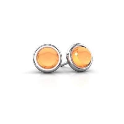 Picture of Stud earrings Jodi 925 silver citrin 6 mm