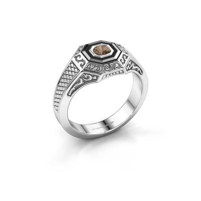 Foto van Heren ring Dion 925 zilver bruine diamant 0.25 crt