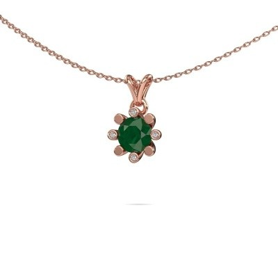 Picture of Pendant Carola 2 585 rose gold emerald 6 mm