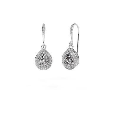 Picture of Drop earrings Beverlee 2 950 platinum zirconia 7x5 mm