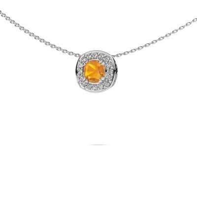 Picture of Necklace Carolina 925 silver citrin 5 mm