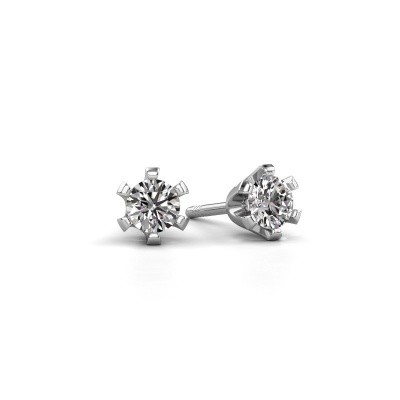 Picture of Stud earrings Shana 585 white gold zirconia 4 mm