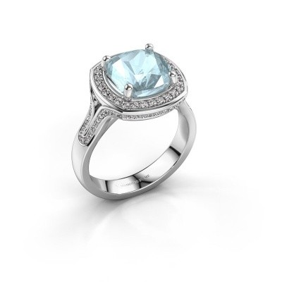 Picture of Ring Lili 585 white gold aquamarine 9 mm