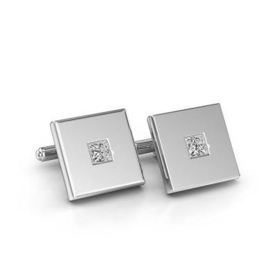 Foto van Manchetknopen Givanti 950 platina diamant 0.80 crt