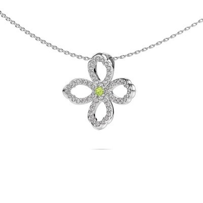 Picture of Necklace Chelsea 925 silver peridot 2 mm