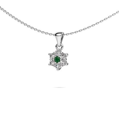 Picture of Necklace Chantal 585 white gold emerald 2.4 mm