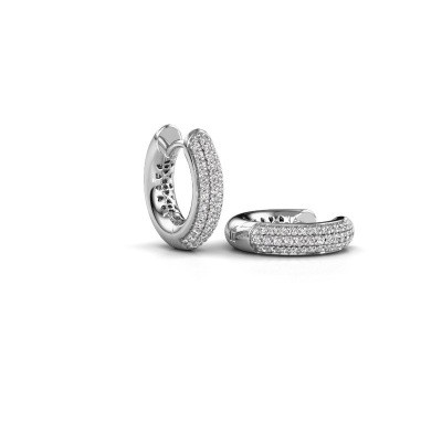 Picture of Hoop earrings Tristan B 14 mm 585 white gold zirconia 1 mm