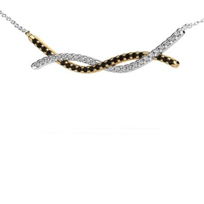 Picture of Bar necklace Breanne 585 gold black diamond 0.369 crt