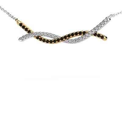 Bild von Bar Kette Breanne 585 Gold Schwarz Diamant 0.369 crt