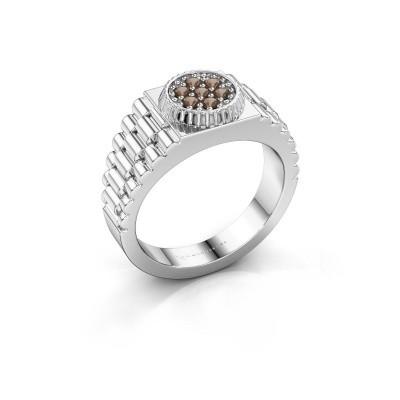 Foto van Rolex stijl ring Nout 925 zilver rookkwarts 2 mm